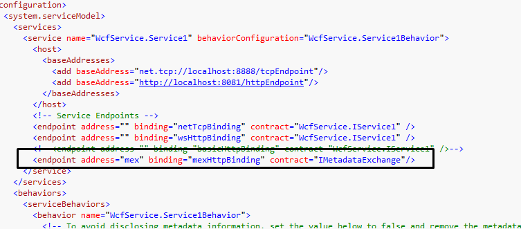 How to test a service having multiple bindings